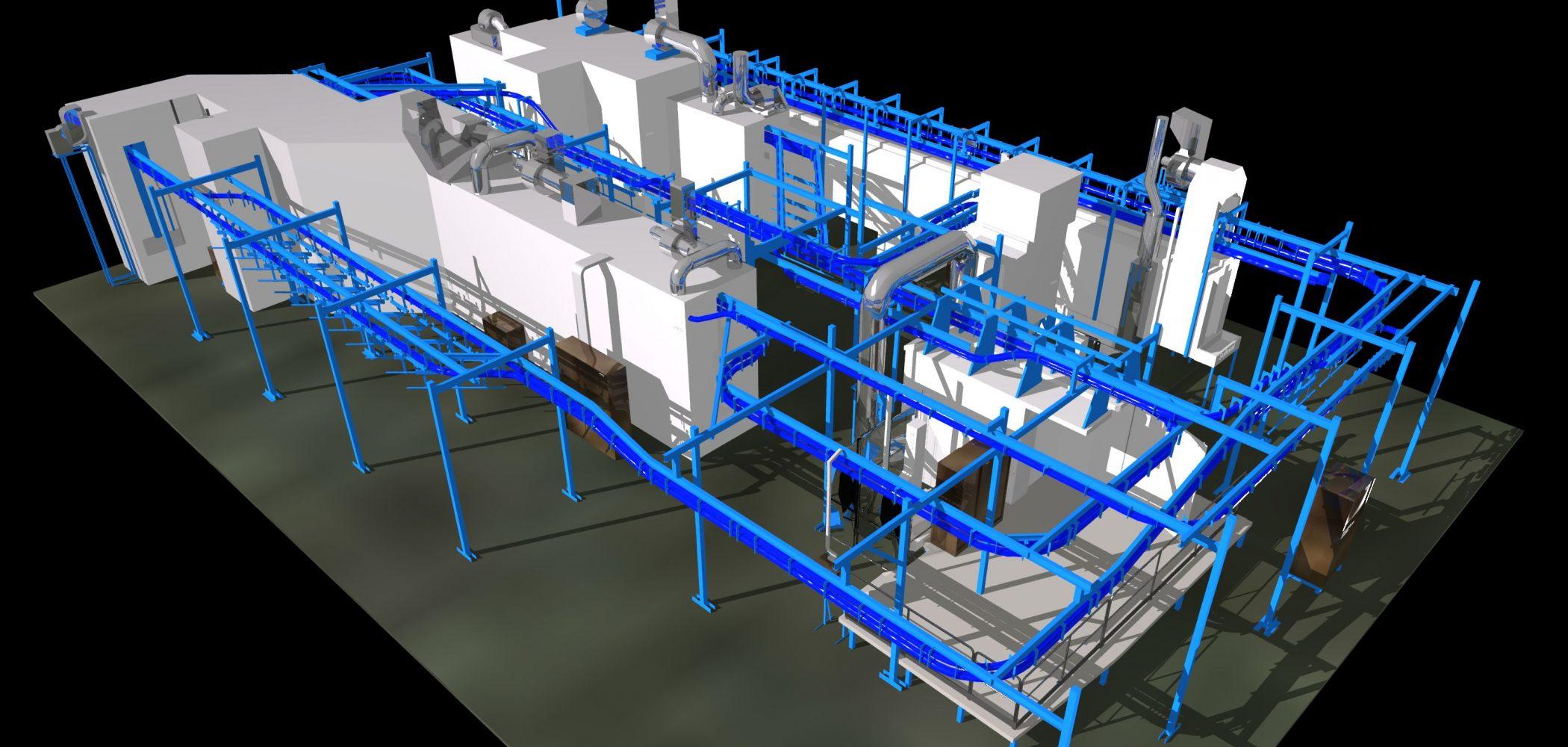 Modélisation 3D De L'usine Huot
