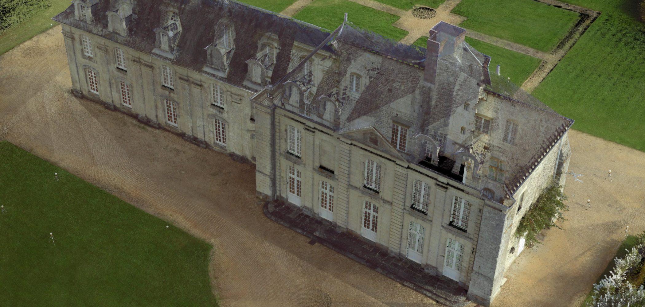 Relevés Laser 3D Des Facades D'un Château